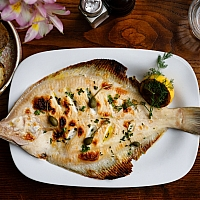 Fresh whole plaice at the Farmgate Cafe, upstairs in the English Market Cork. Photo: Clare O'Rourke