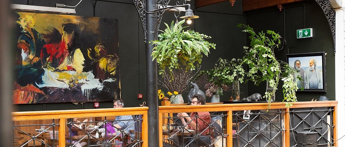Balcony dining at the Farmgate Cafe in the English Market, Cork City, Ireland - photo Melanie Mullan